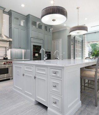 Tranquil Kitchen for Entertaining